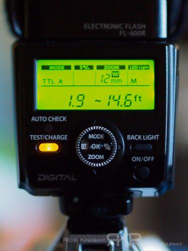 Olympus FL-600r Flash settings on the OM-D E-M5