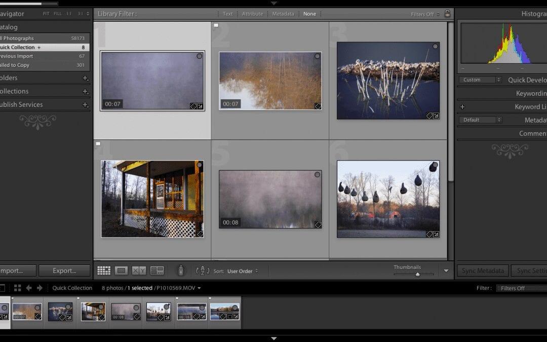 Lightroom Video tips for hybrid photography